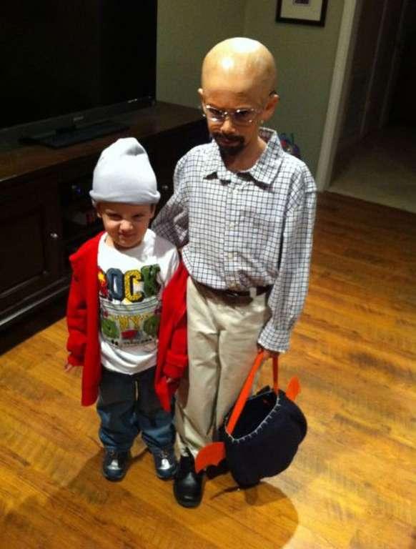 Enfants déguisés en Breaking Bad