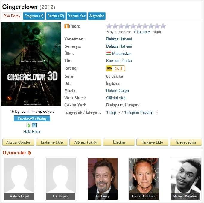 Gingerclown - 2013 BDRip x264 - Türkçe Altyazılı Tek Link indir