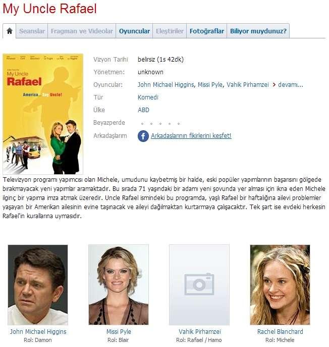 My Uncle Rafael - 2012 DVDRip x264 - Türkçe Altyazılı Tek Link indir
