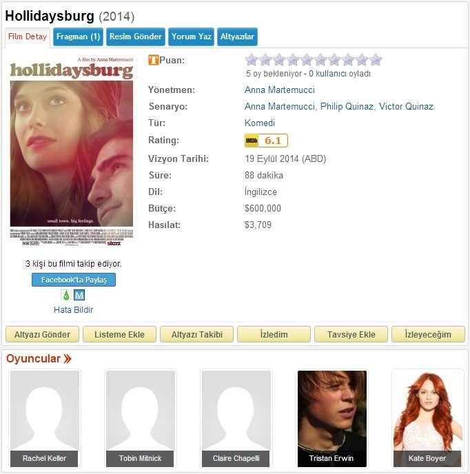 Hollidaysburg - 2014 DVDRip x264 - Türkçe Altyazılı Tek Link indir