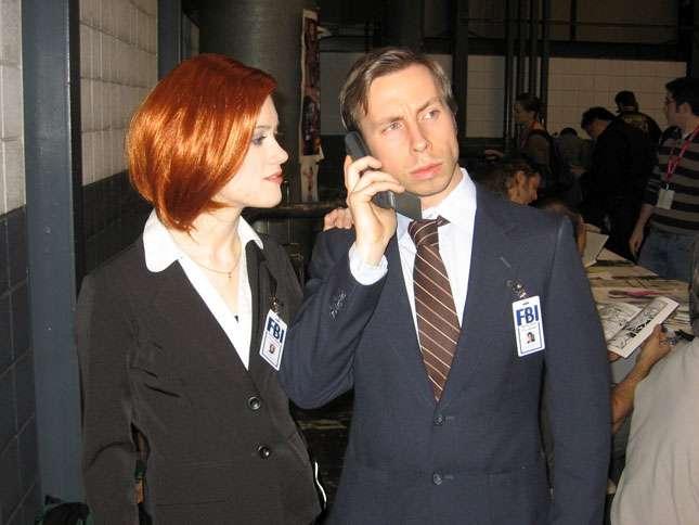 Couple déguisé en X-Files
