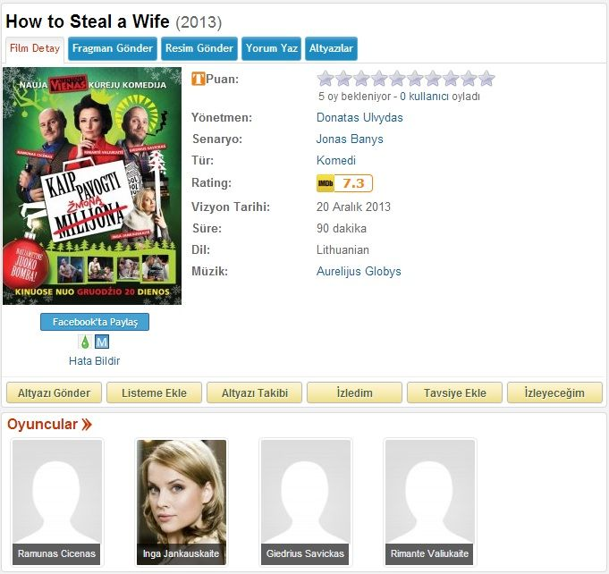 How To Steal A Wife - 2013 DVDRip x264 - Türkçe Altyazılı Tek Link indir