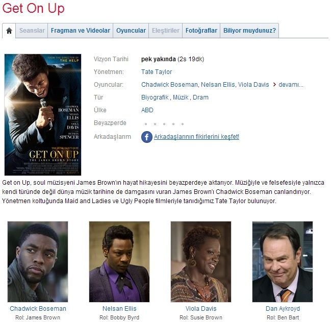 Get on Up - 2014 BluRay 1080p DuaL MKV indir