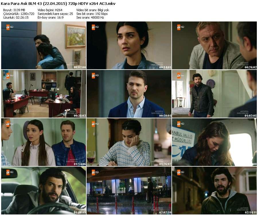Kara Para Aşk 43.Bölüm (22.04.2015) 720p HDTV x264 AC3