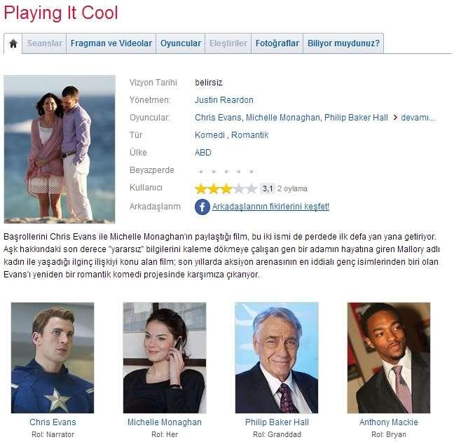 Playing It Cool - 2014 BDRip x264 - Türkçe Altyazılı Tek Link indir