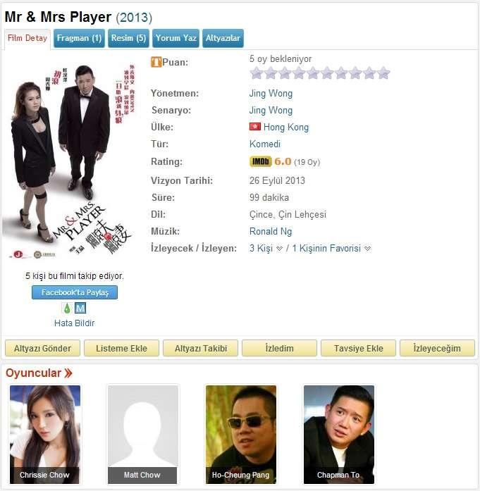 Mr and Mrs Player - 2013 BDRip x264 - Türkçe Altyazılı Tek Link indir