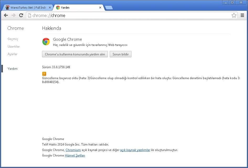 Google Chrome v33.0.1750.149 Türkçe (Win/Mac/Linux)