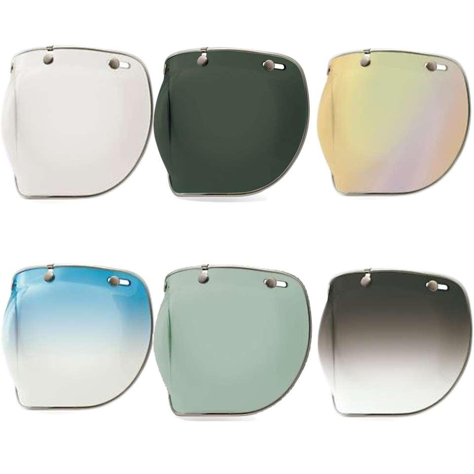 Bell Custom 500 3 Snap Stud Motorbike Motorcycle Helmet Bubble Visor