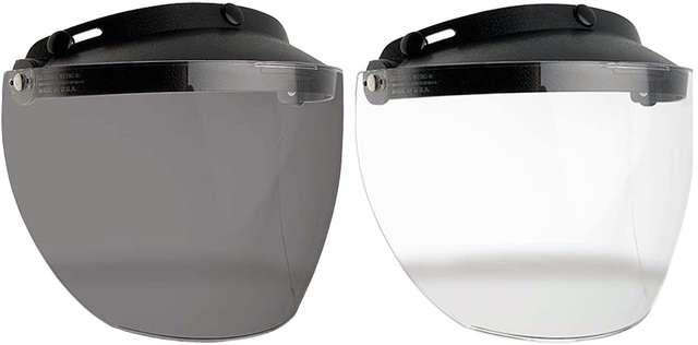 Bell Smoke Replacement MXL 3-Snap Flip Visor For Motorcycle Custom 500 Helmet