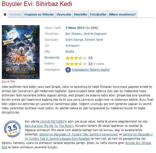Büyüler Evi Sihirbaz Kedi - 2013 BRRip XviD - Türkçe Dublaj Tek Link indir