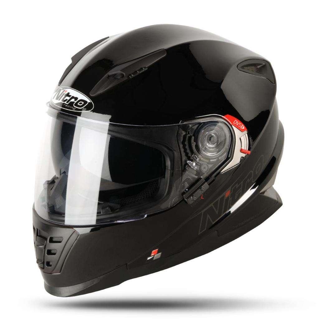 Nitro Nrs 01 Uno Dvs Double Visière Intégral Casque Moto Noir Ebay