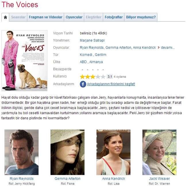 Sesler - 2014 DVDRip XviD - Türkçe Altyazılı Tek Link indir