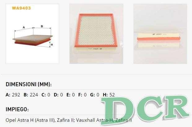 kit tagliando opel zafira b 1 9 cdti 150cv 110kw dal 07