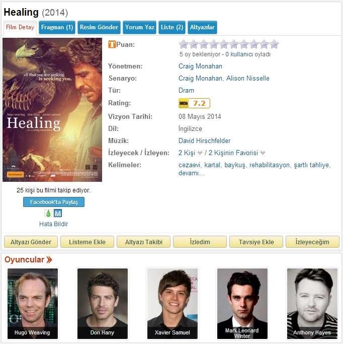 Healing - 2014 BDRip x264 - Türkçe Altyazılı Tek Link indir