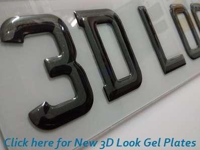 SET OF 10 Highline Gel Domed Self Adhesive Number Plate Digit V