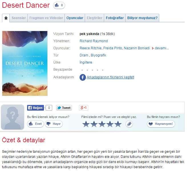 Çöl Dansçısı - 2014 BluRay 1080p DuaL MKV indir