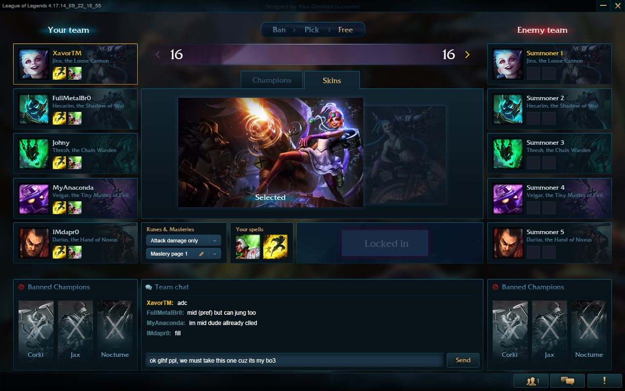 I Just Came Across That Fan Made Champ Select Interface