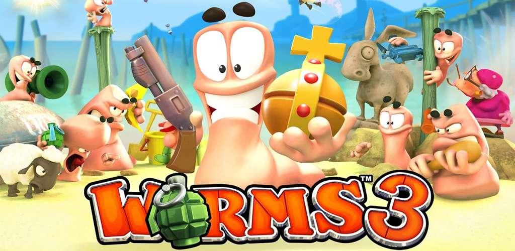 Worms 3 v2.04 Apk + Mod ( unlimite Coins & Levels ) + Data