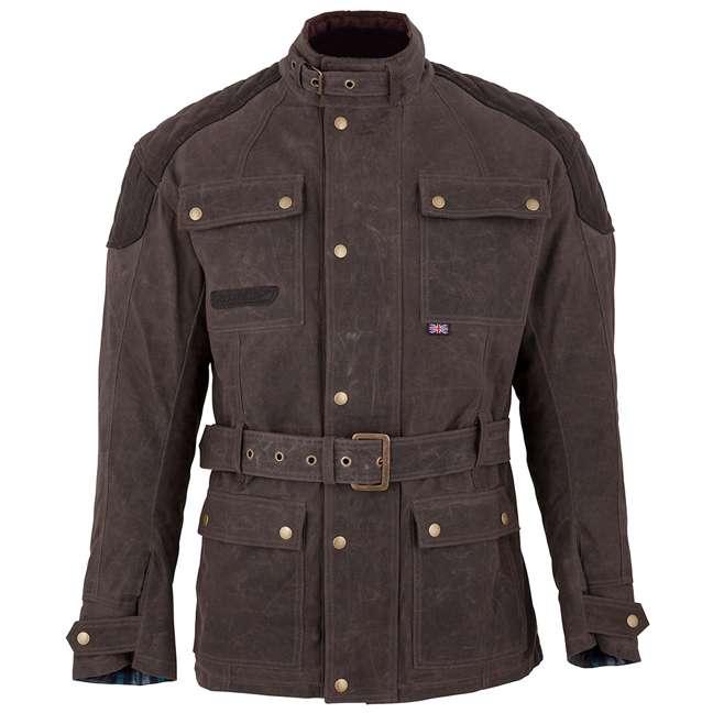 Spada Dry Waxed Cotton Staffy Waterproof Motorcycle Jacket