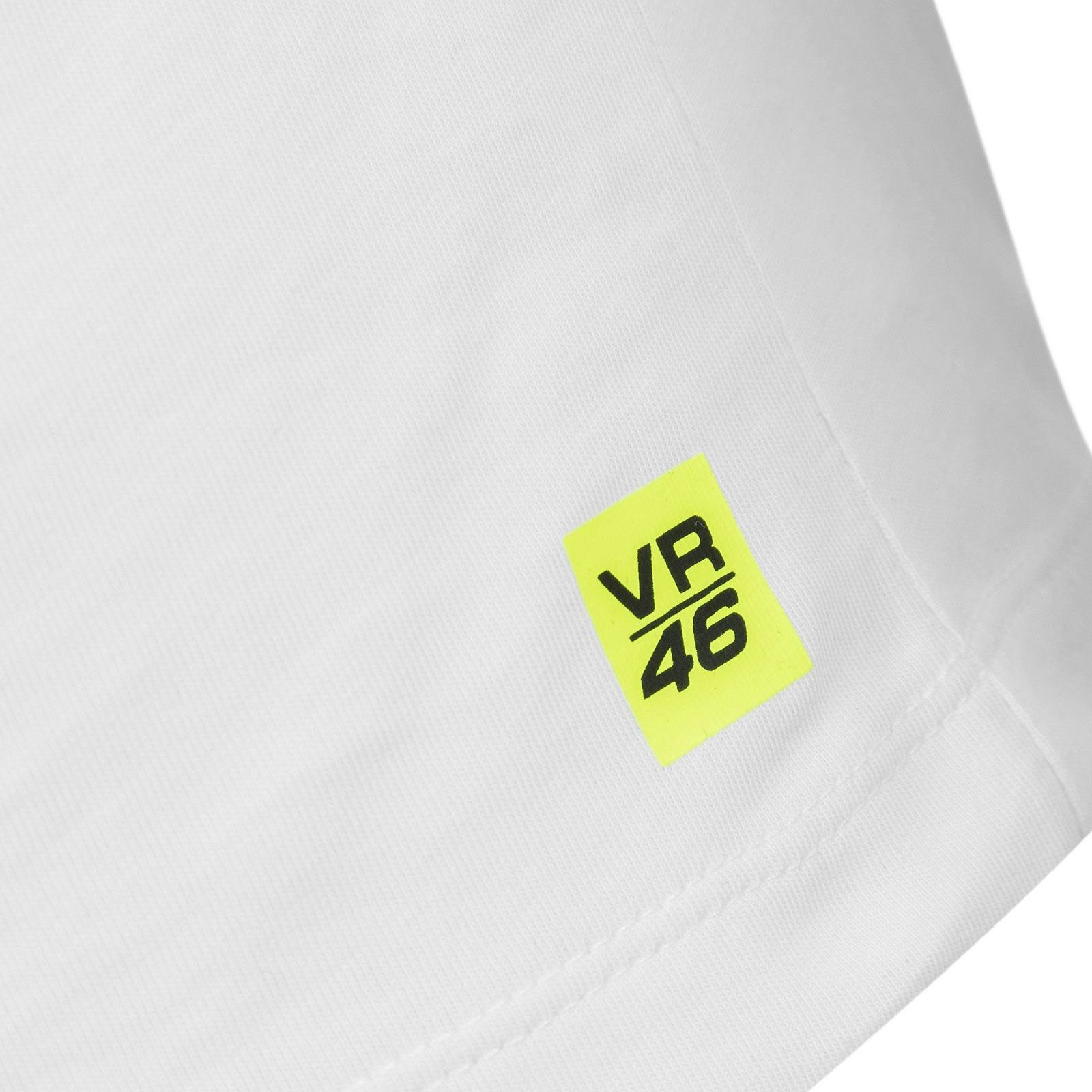 edd42632432f Official VR46 Core Collection Valentino Rossi Small 46 Mens T-Shirt - White