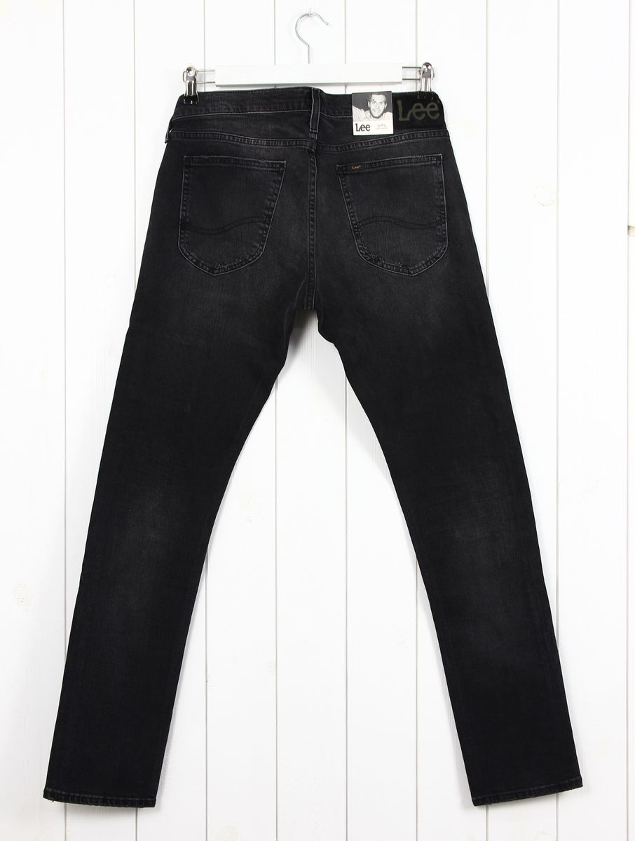 NEW LEE LUKE JEANS SLIM TAPERED FIT LIGHT BLUE BLACK RIPPED ALL SIZES RINSED