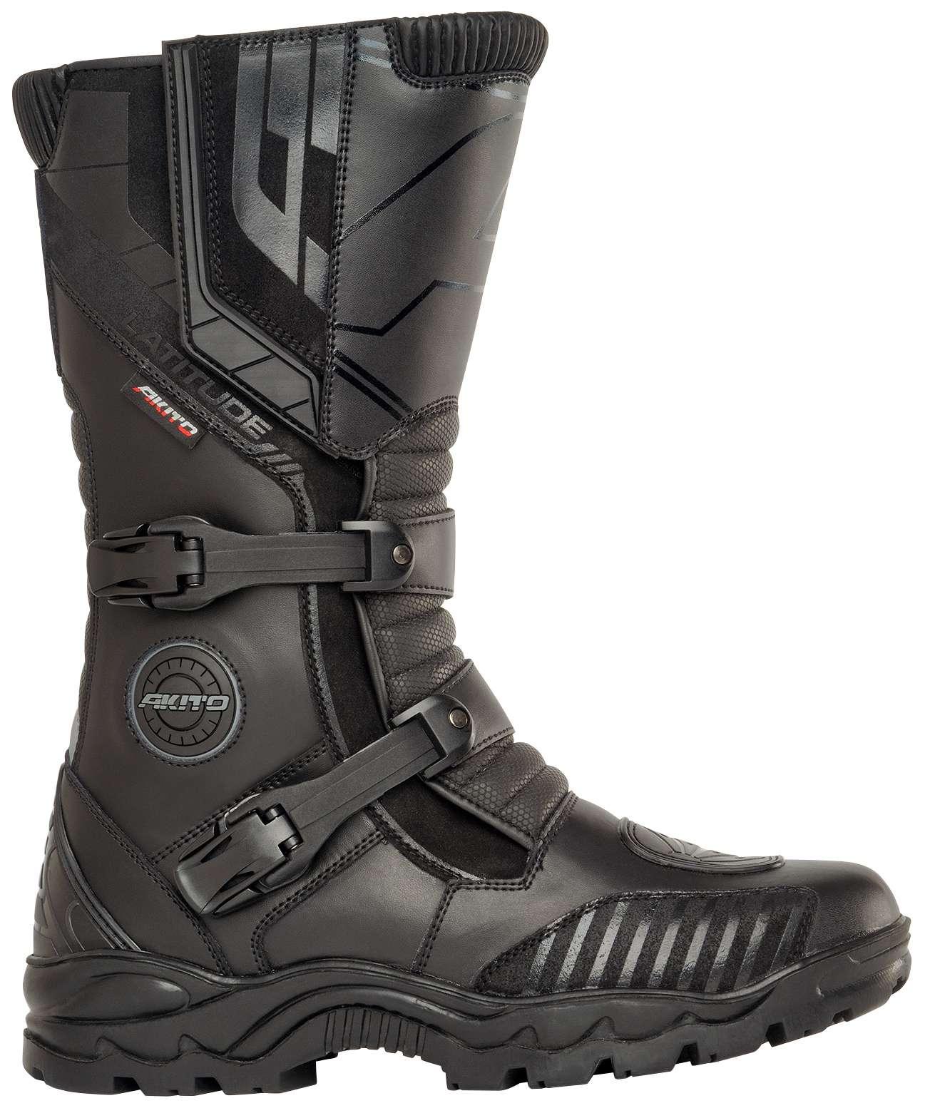 Black Akito Stealth Motorbike Motorcycle Touring Urban Boots