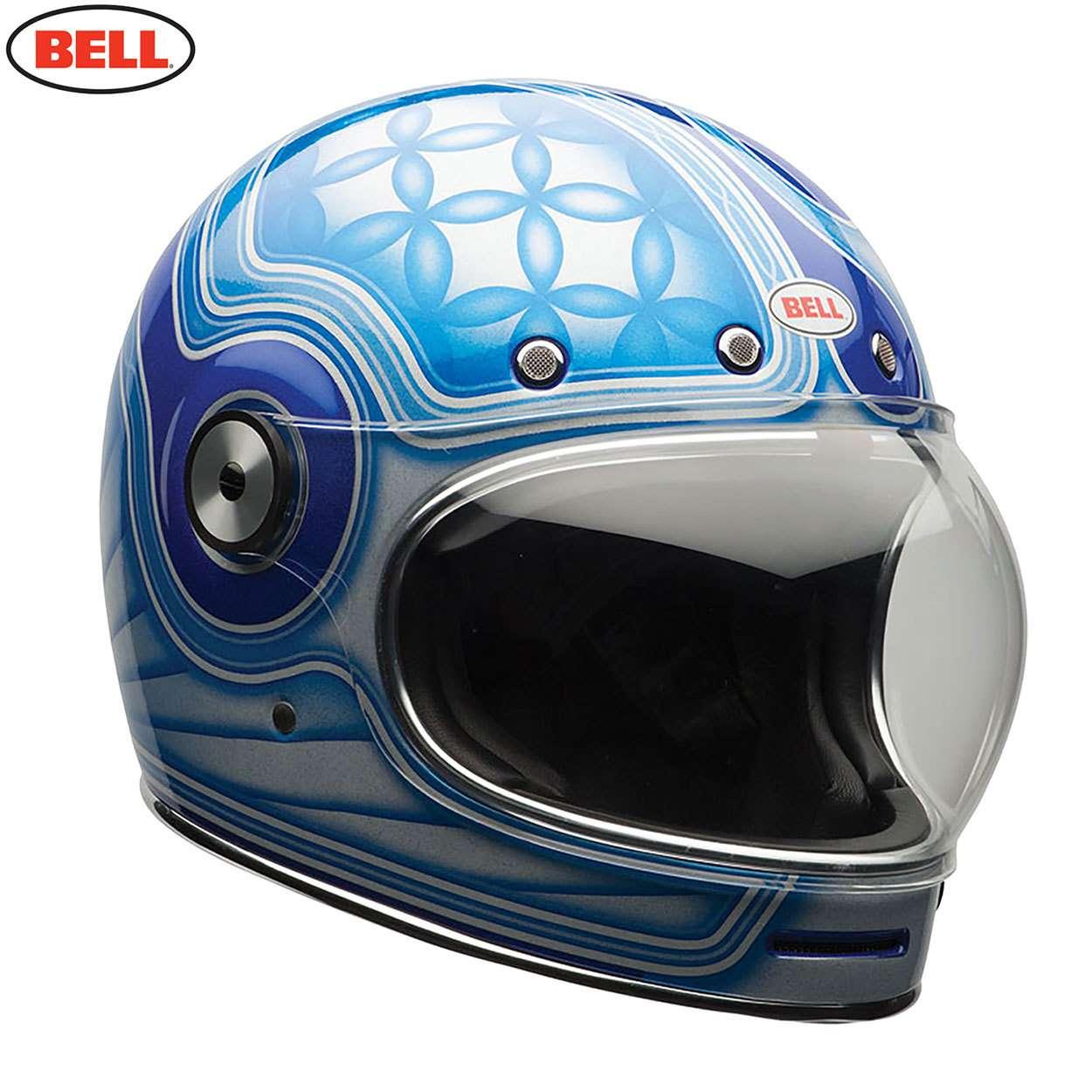 Bell Bullitt Retro Street Full Face Motorcycle Helmet Chemical Candy Blue SR