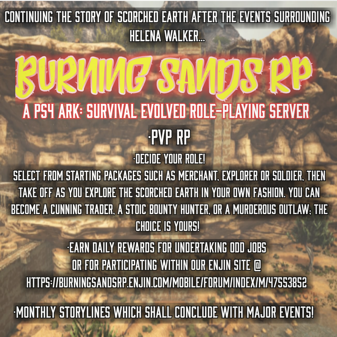 Burning Sands RP : Tales of the Scorched Earth - Dedicated