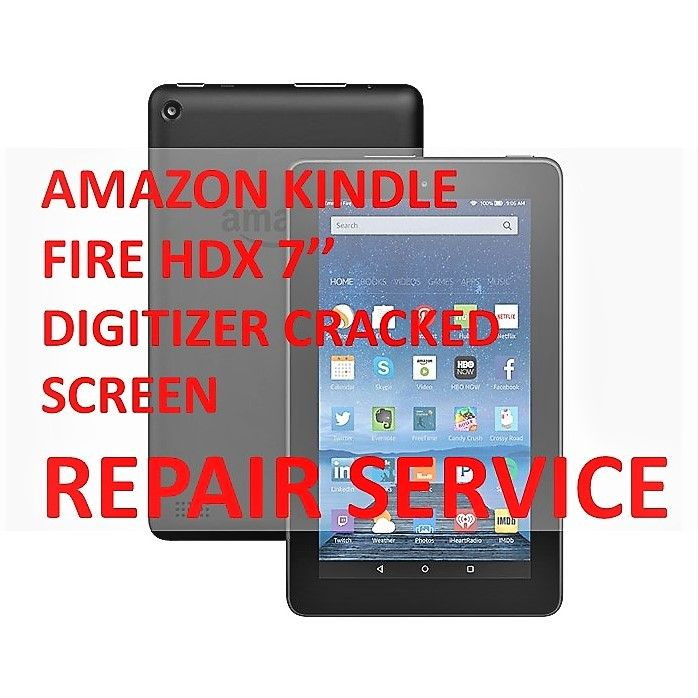 AMAZON KINDLE FIRE HDX 7''DIGITIZER CRACKED BROKEN SCREEN