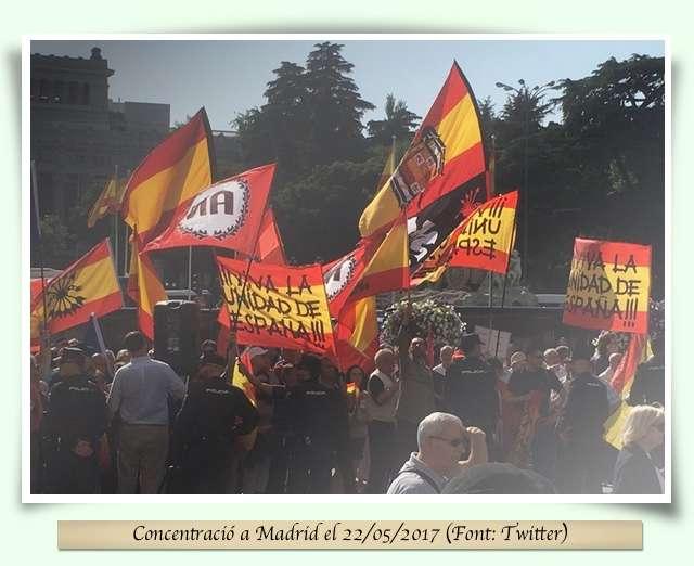 Imatge concentació a Madrid
