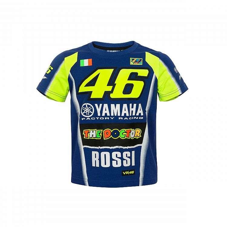 96b42db4e6d VR46 Valentino Rossi Yamaha Racing 46 le T-Shirt médecin moto Kid-bleu