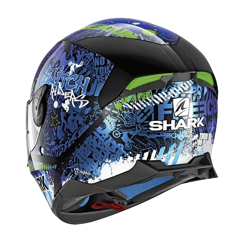 Shark Skwal 2 Led Dvs Casque De Moto Couverture Complète Switch