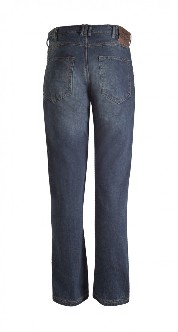 066518ef Bull-It SR6 Vintage 17 Straight Covec Motorcycle Jeans Trousers (Long) -  Blue