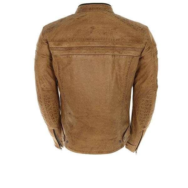 Urban Leather 58 Veste de Moto pour Femmes avec Protections Bleu Navy-L