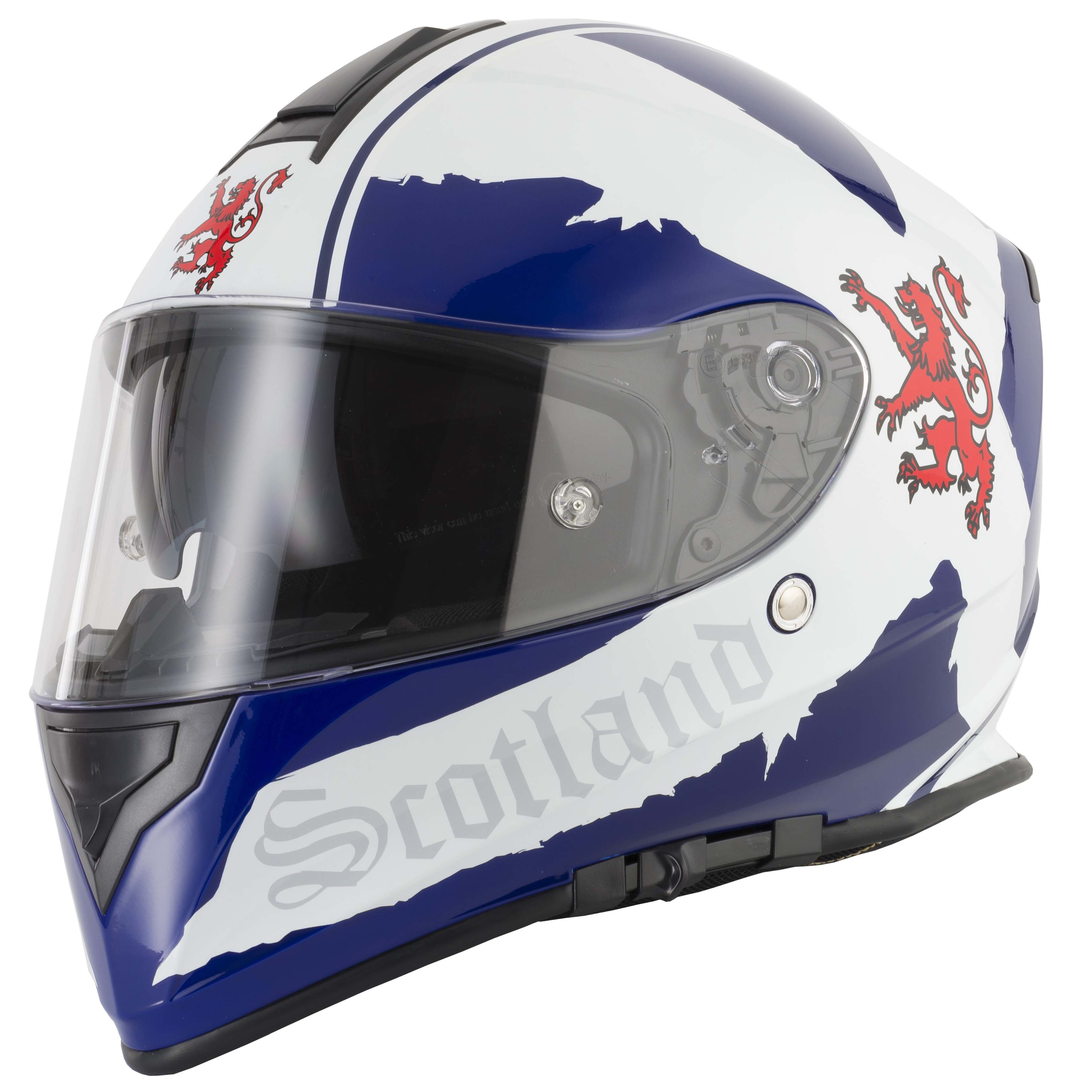 VCAN V127 BRITAIN HOLLOW SCOTLAND GREEN BLUE RED MOTORCYCLE FULL FACE HELMET Auto Parts & Accessories