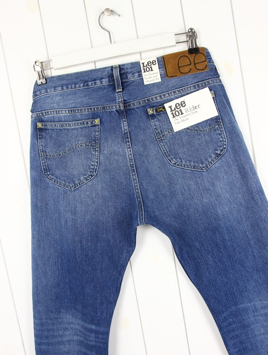 NEW LEE 101 RIDER 13oz JEANS SELVAGE  DENIM TAPERED SLIM  FIT LUKE /_/_/_ ALL SIZES