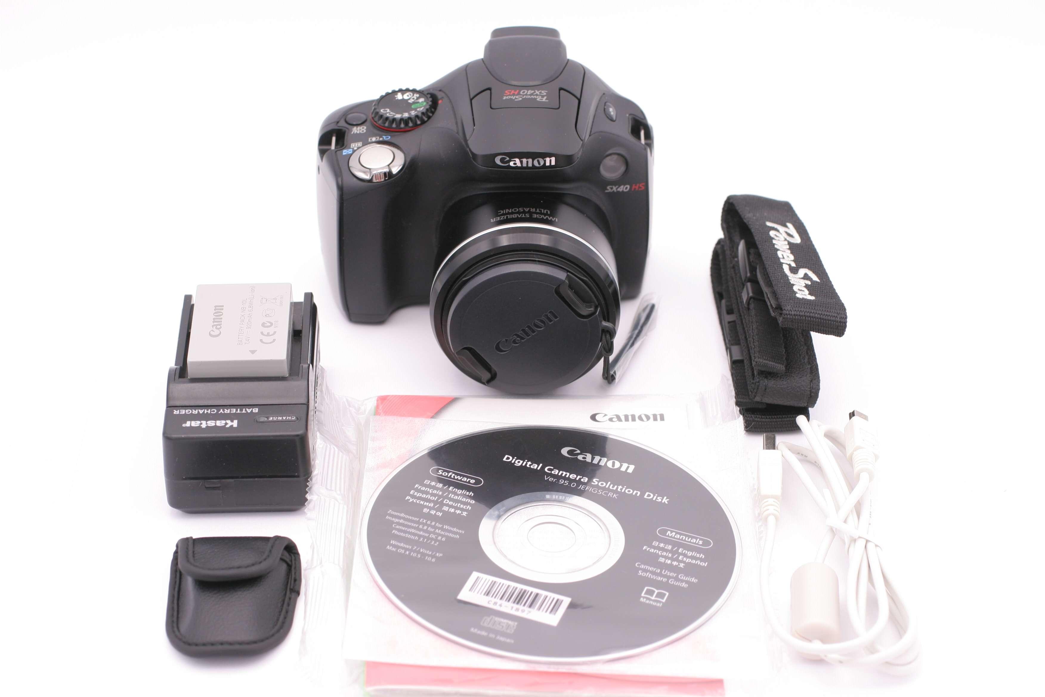 canon powershot sx40 hs 12 1mp digital camera black 609595789064