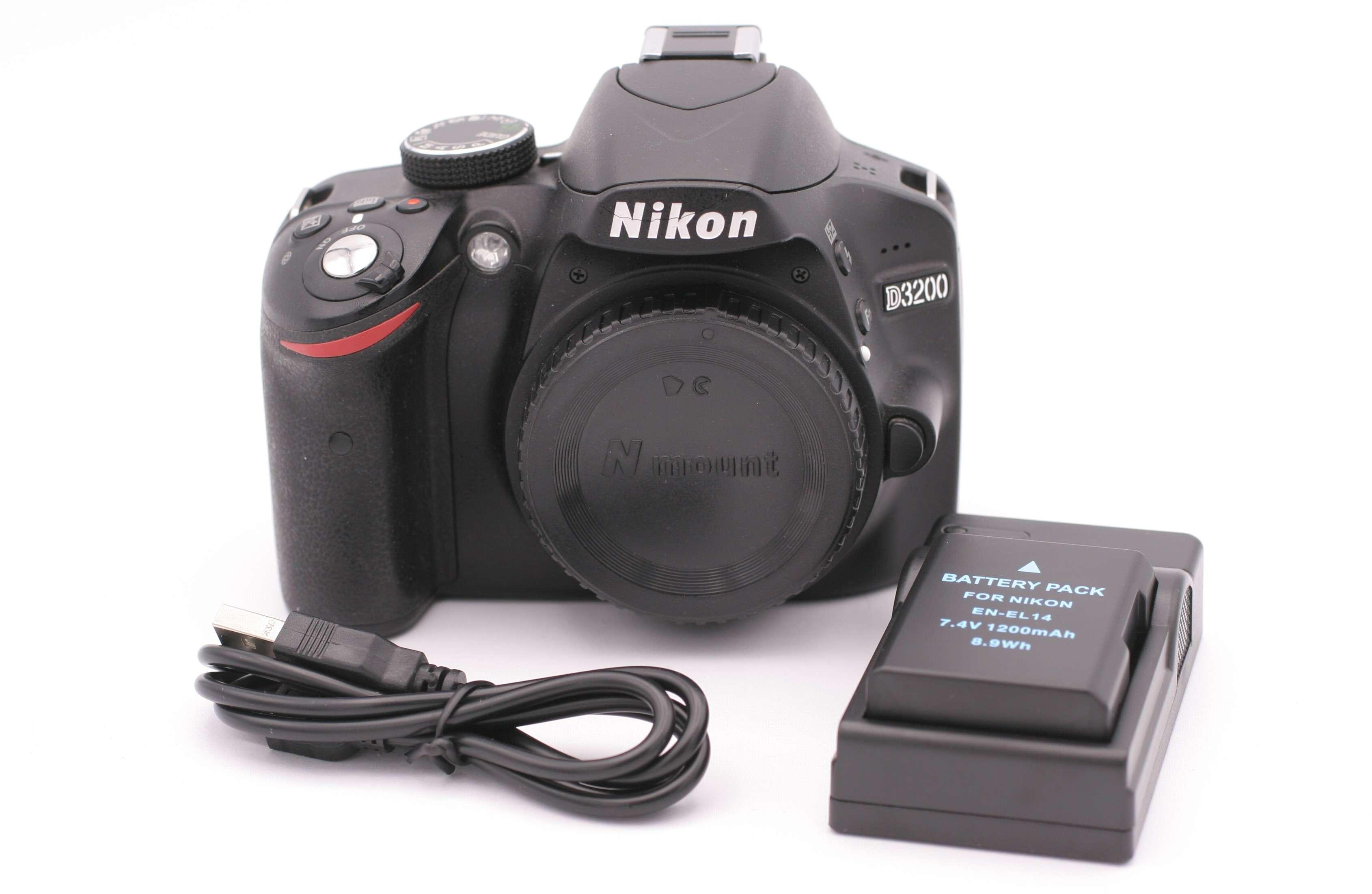 Details about Nikon D3200 24 2MP Digital SLR Camera - Black (Body Only) -  Shutter Count: 1560