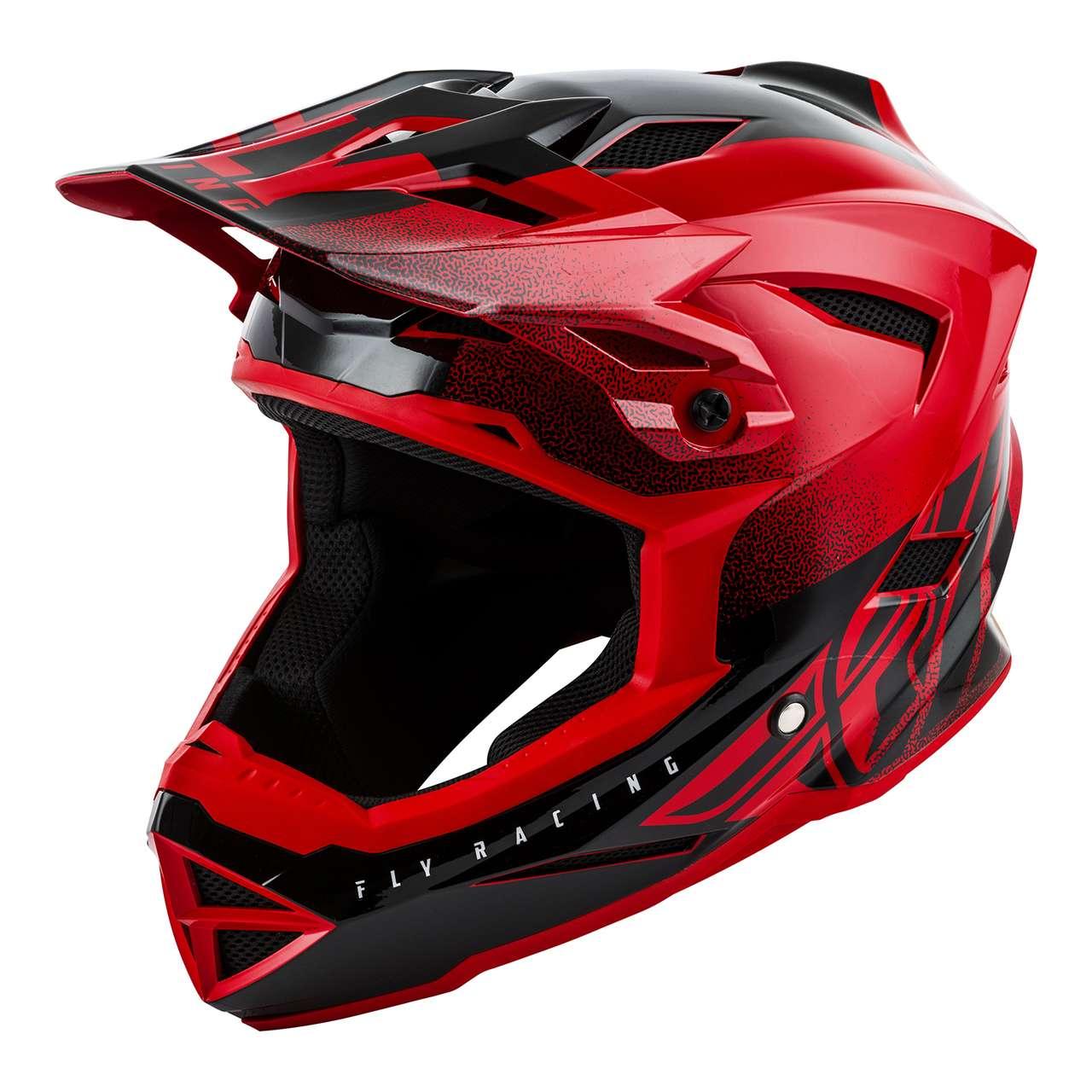 Fly Racing 2019 Adult Default Dither MTB Downhill BMX Helmet Black Hi Vis