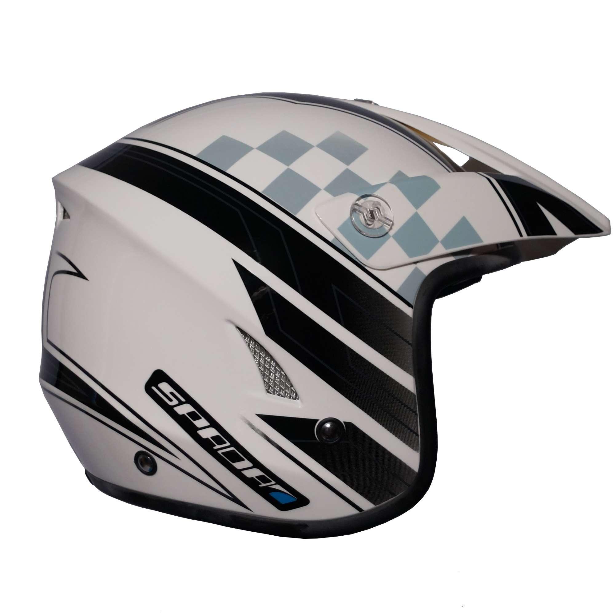 Spada Edge Explorer Motorcycle Trials Helmet
