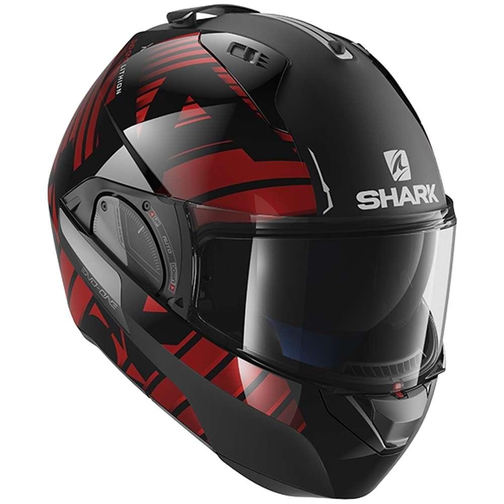 173bb87f Shark Evo-One 2 Flip Up Front modulare moto casco coperchio - Lithion Dual  KUR
