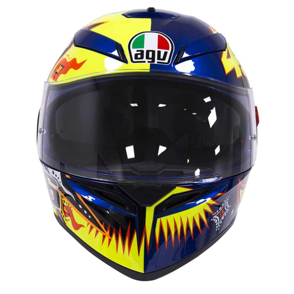 fb0dddecc4 AGV K3 SV Valentino Rossi 2002 MotoGP Sun   Moon Motorcycle Helmet ...