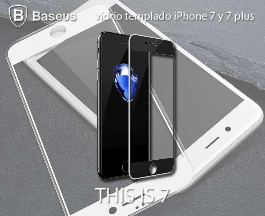 Vidrio Templado Iphone 7 Baseus Full Curvo 3d Soft-edge 0.23