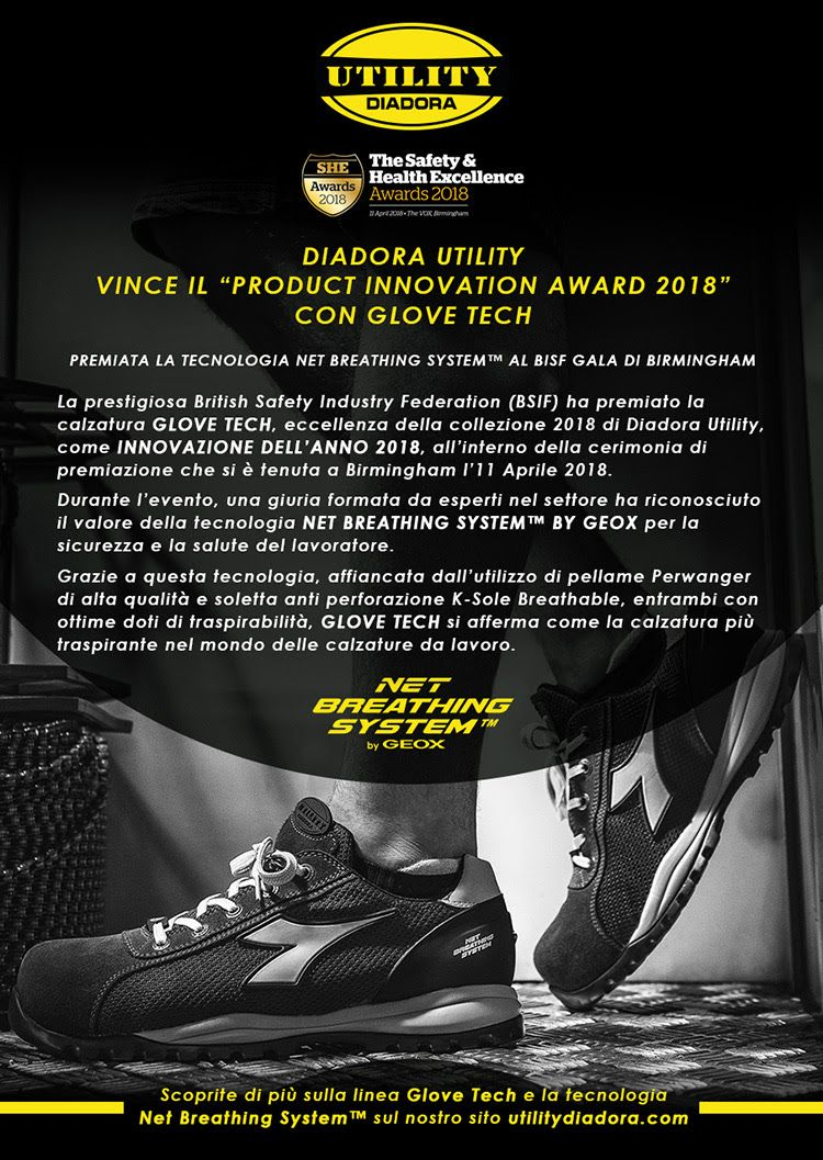 Antinfortunistiche Glove Nero Pro Utility Diadora Tech S1p Scarpe wCq7BzPzx