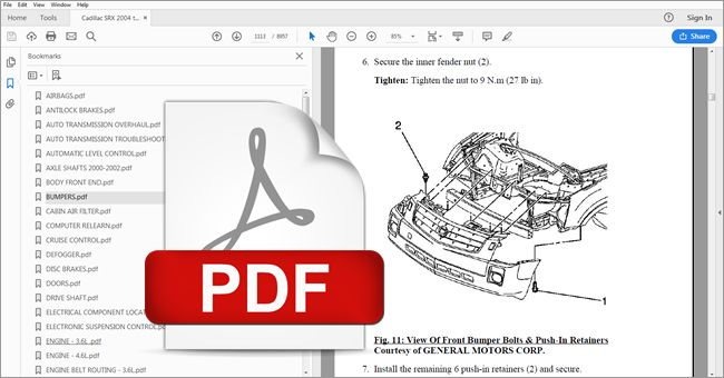 2002 cadillac escalade repair manual download