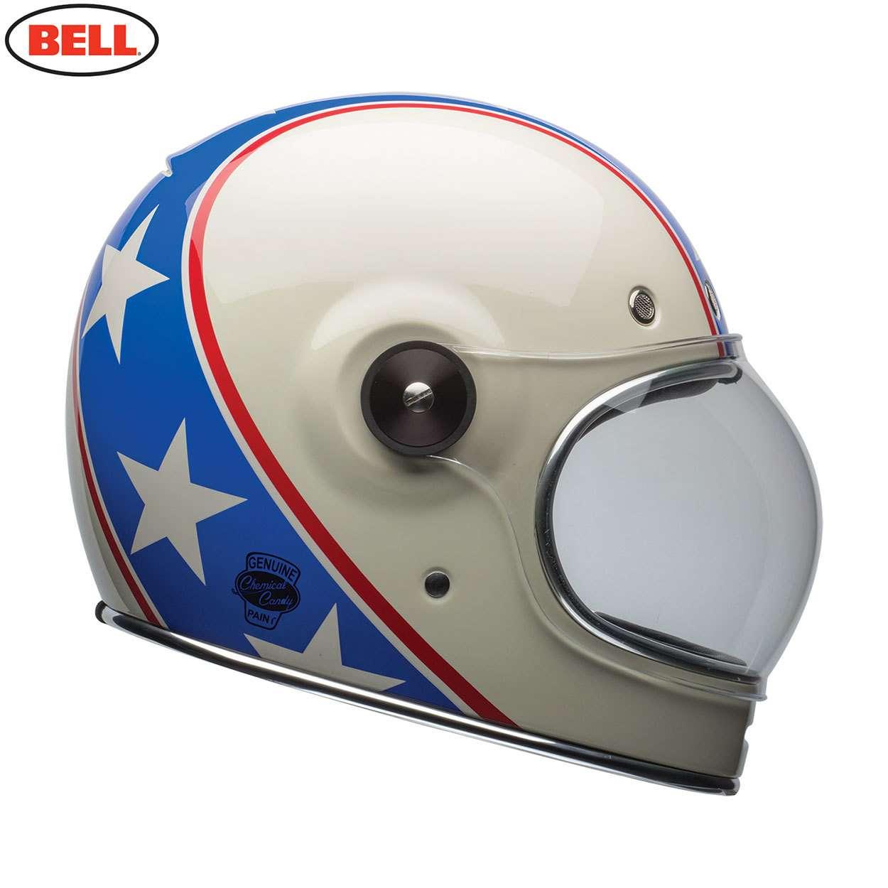 cde041d1b6200 Bell Cruiser Bullitt SE Motorcycle Bike Helmet - Chemical Candy  Blue White Red