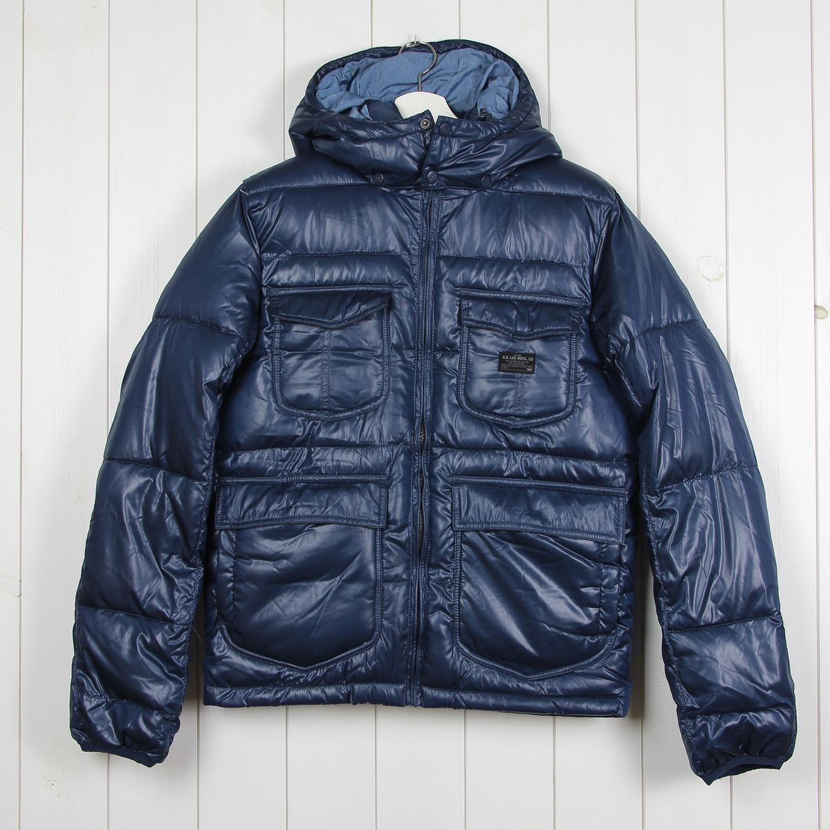 M DC Men/'s Puffer Jacket Navy Blue Size S L XXL Available-Brand New XL
