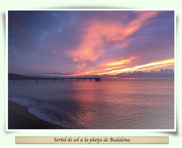Sortida de sol a Badalona