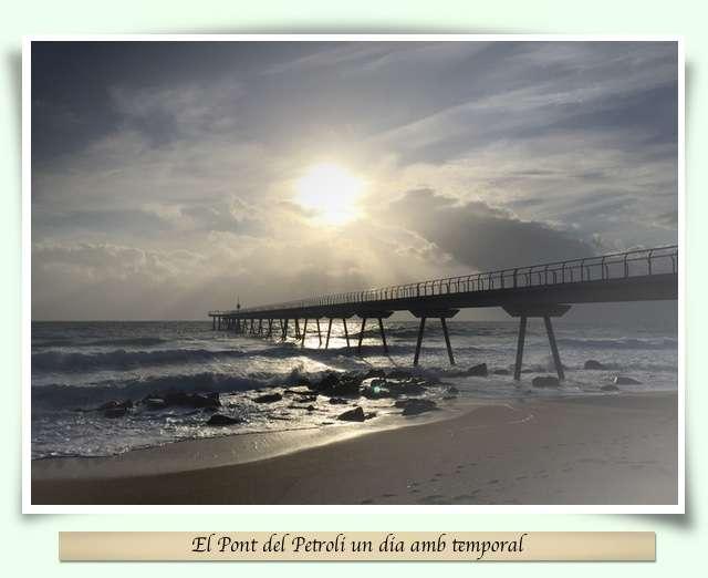 Pont del Petroili un dia de temporal