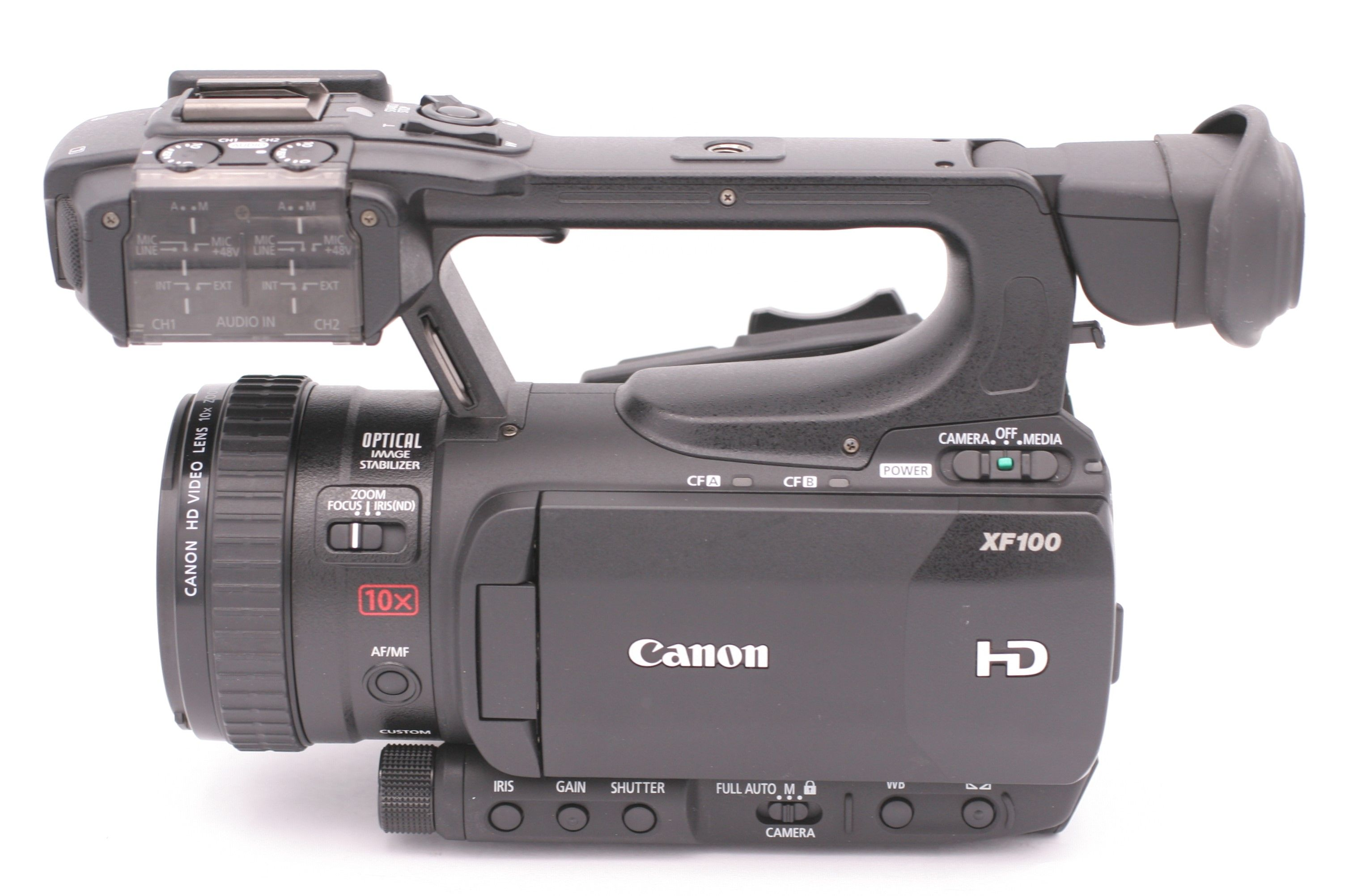 Details about Canon XF100 Professional (32 GB) HD 3D Camcorder Video Camera  - Black